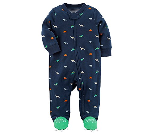 Carter's Baby Boys' Zip Up Dinosaur Sleep And Play 3 Months (Preemie Pajamas)