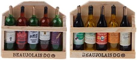 Zohong Creativa Estilo francés Botella de Vino de Madera Nevera ...