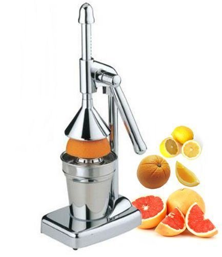 Royal Manufacturers Stainless Steel Manual Lever Press Citrus Juicer
