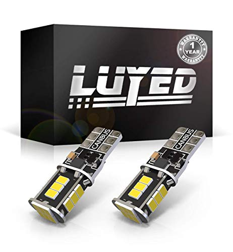 Auto Replacement Lamp - LUYED 2 X 500 Lumens Extremely Bright 3020 18-EX Chipsets 906 912 920 921 T15 Led Bulbs Used For Truck 3rd Brake Lamp Cargo Lights,Xenon White