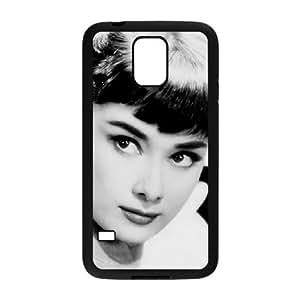 C-EUR Customized Print Audrey Hepburn Hard Skin Case Compatible For Samsung Galaxy S5 I9600