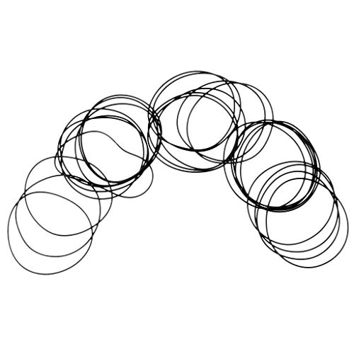 Fityle 40Pcs 20mm-30mm Universal Washers Rubber O-Ring Watch Back Cover Seal Gaskets 0.6mm - Black, 30mm