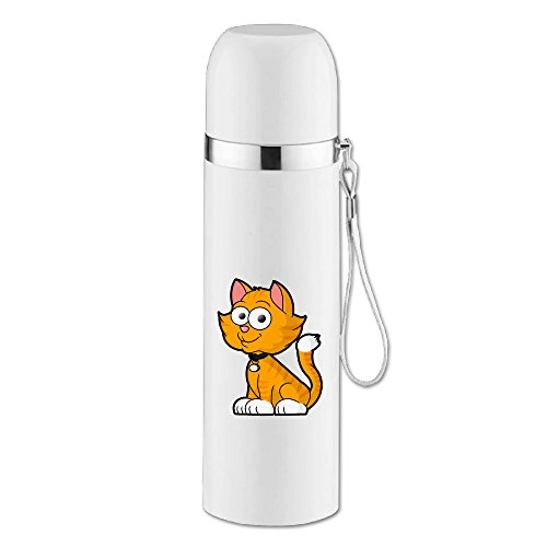 Caryonom Smile Cat Insulated Water Bottle Travel Mug Vacuum Cup For Office Home Outdoor Adult (Admiral Adult Costumes)