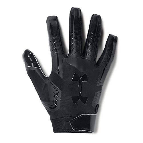 Under Armour Men's F6 Football Gloves, Black (002)/Black, Large