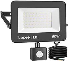 LE Projecteur LED Ultra Mince 15W 1300LM Blanc Froid 5000K, Spot LED Extérieur Etanche Verre Trempé à Grain Fin,...