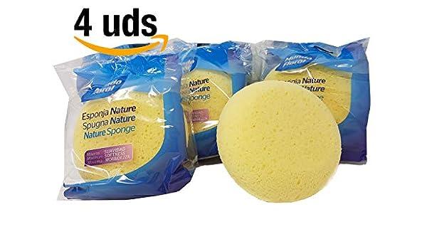 Esponjas extra suaves e hidrófilas especiales para bebé. Pack de 4 uds. Altamente absorbentes y suaves. Miman la piel de tu bebé: Amazon.es: Bebé