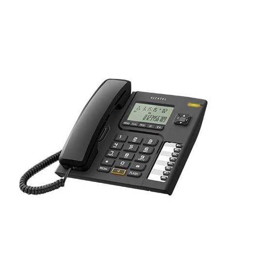 Alcatel T-76 Corded Landline Phone with Caller ID and Speakerphone (Black)