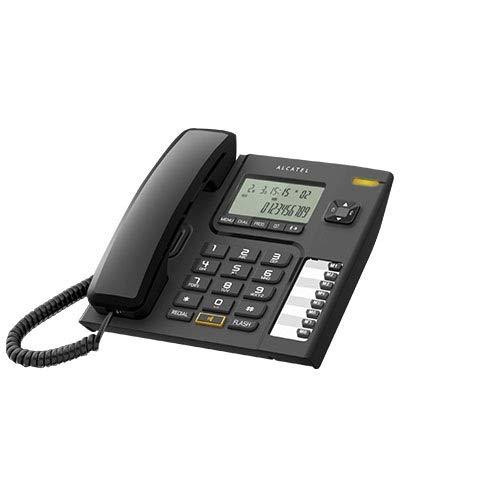 Alcatel T-76 Corded Landline Phone with Caller ID & Speakerphone (Black)