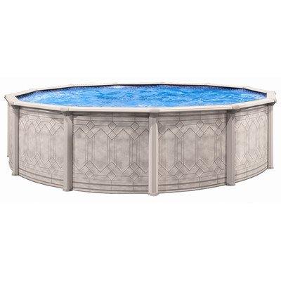 Round 52 Deep Pool Liner - QCA Spas 206SD2752 Sunscape 27-Feet Round and 52-Inch Deep Above Ground Pool with Blue Overlap Liner