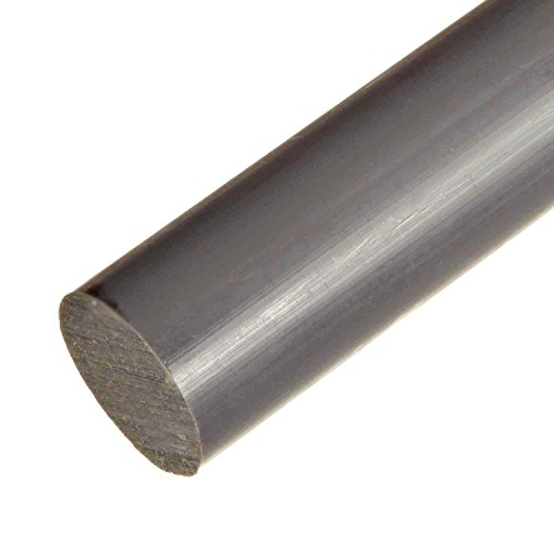 (Online Metal Supply PVC Type 1 Round Rod, 2.250 (2-1/4 inch) x 12 inches, Gray)