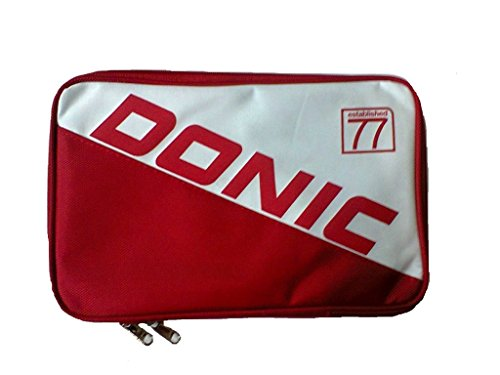 DONIC Single Bat Cover PRIME Table Tennis Cover - Red/White by DONIC