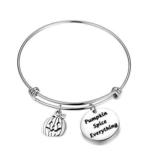 WUSUANED Autumn Bracelet Pumpkin Spice Everything Fall Jewelry Hostess Wife Gift (Pumpkin Spice Everything)