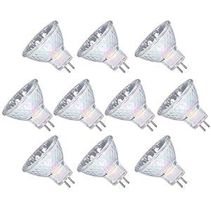 GMY MR11 Halogen Bulbs 12V 20W GU4 Bi-Pin Base Spotlight Dimmable Glass Cover 35mm Diameter Warm White 2800K 10 Pack