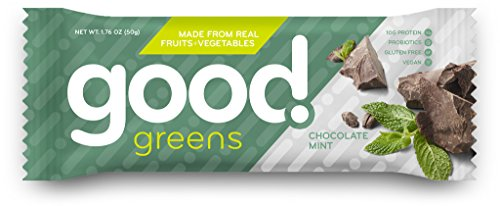 Chocolate Mint Protein Bars, Gluten-Free, Dairy-Free & Vegan (12 Bars) - Great (Apple Roasted Sauce)