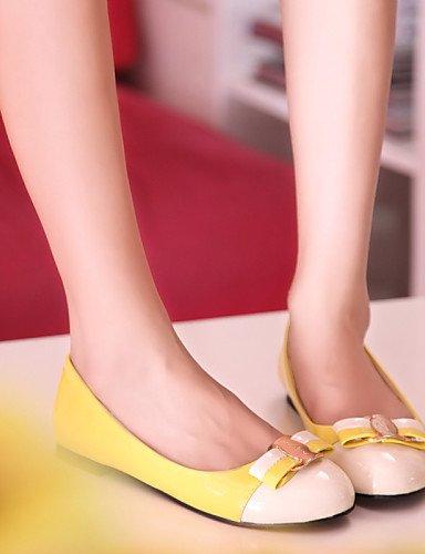 cn37 negro us6 Flats Casual plano punta eu37 PDX 7 mujer rosa yellow 5 amarillo azul sintética redonda zapatos de 5 uk4 de talón piel 5 xn7SFT