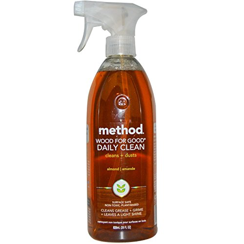 Method, Wood For Good Daily Clean, Almond, 28 fl oz (828 ml) - - Wood Store Good
