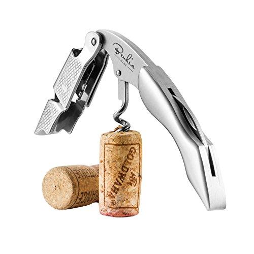 Benkia Edelstahl Kellnermesser - Profi Korkenzieher in Gastronomie Qualität mit Flaschenöffner & Folienschneider inkl. Wein-Ratgeber Ebook