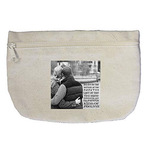 Couples Hugging With Of Butterflies Kind Of Feeling Cotton Canvas Makeup Bag by Style In Print