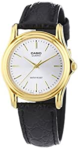 Casio Men's Classic Silver Dial Black Leather Band Watch [MTP-1096Q-7A]