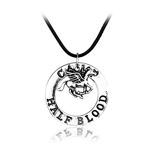 Magical Jewelry Gift Co. Camp Half Blood Charm Pendant Necklace - Silver/Metal
