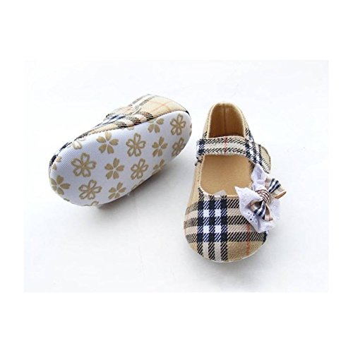 Zapato suave bebé de 0a 12meses, Modelo Tartan Beige 3/6Meses, 6/9Meses, 0/3meses, 9/12Meses Multicolor multicolor Talla:3/6 meses