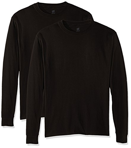 Hanes Long Sleeve Tee - Hanes Men's Comfortsoft Long-Sleeve T-Shirt (Pack of 2), Black,2X Large