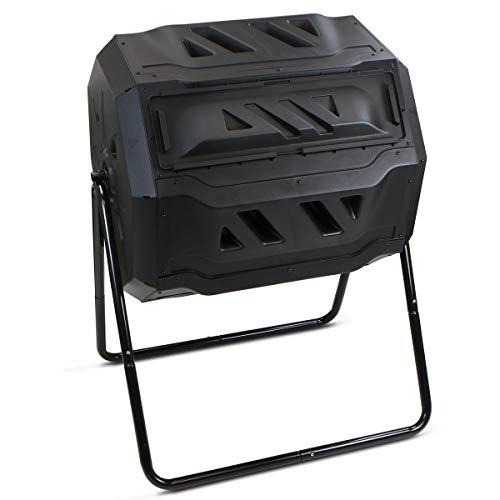 AVGDeals Composter Tumbler Yard Garden Waste Bin Grass Food Trash Fertilizer Lawn Leaves | UV inhibited Recycled Polypropylene