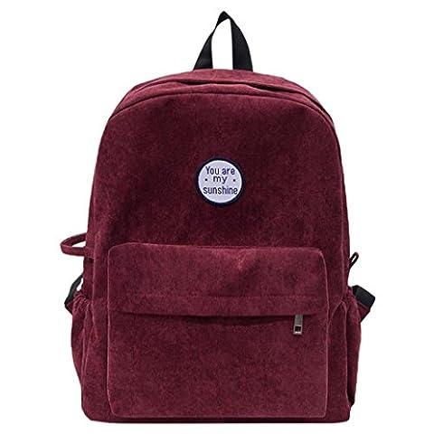Sikye Corduroy Shoulder Bag Women Girls chool Travel Backpack Day Hiking Pack You Are My Sunshine - Corduroy Womens Shoulder Bag