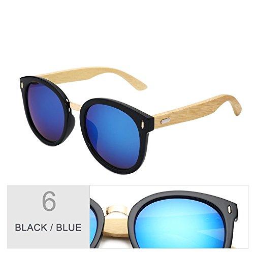 Mujer De Mujeres Gafas Bambú Gafas Moda Sol Gafas Unisex De De Verde Gafas Gafas Oculos TIANLIANG04 Macho Blanco Madera Hombre Black De Uv400 Sol Blue Gafas De Retro tYwqnU5