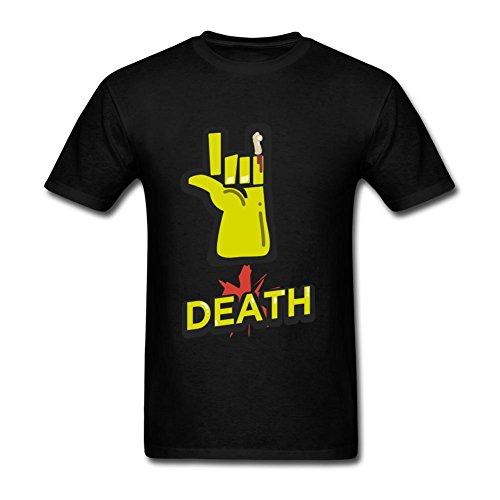 Layannie Men's Death Rock Amazing Design Short Sleeve T shirt XXL