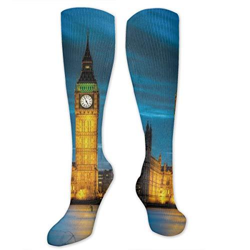 ks Big Ben London City Night Scene Compression Socks Sports Athletic Socks Tube Stockings Long Socks for Men Women Teens ()