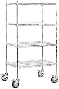 Amazon Com Salsbury Industries Mobile Wire Shelving Unit