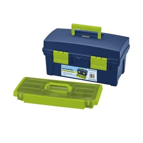 Pro Art Storage Box W/Lift-Out Organizer Tray-16''X8.25''X8.25'' Blue & Green by Pro Art