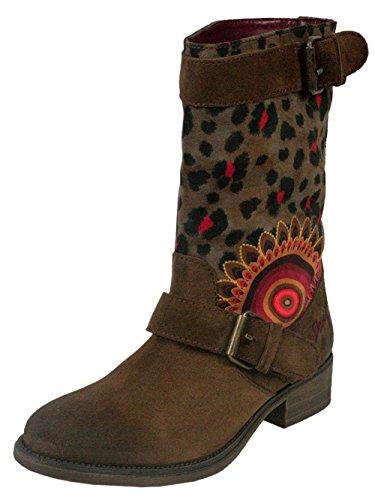 DESIGUAL Femme Designer Chaussures Biker Boots - BIKER TWO -