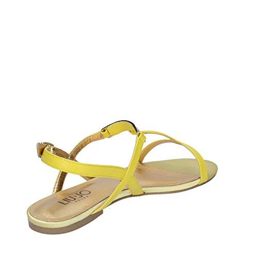 Liu Jo Shoes S15039 Sandalia Para Mujer Yellow Leather Yellow 35