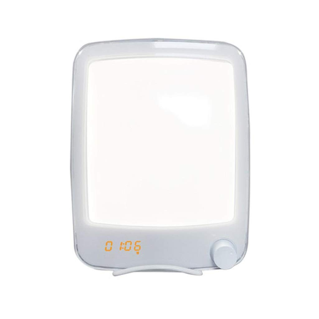 TD Wake-up Light, Phototherapy Lamp Alarm Clock Wake Up Light Antibiotic Sun Bedside Lamp Night Light Q0003