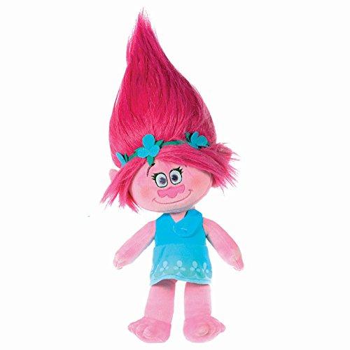 Trolls-Peluche-princesa-Poppy-37cm-pelo-rosa-vestido-azul-Calidad-super-soft