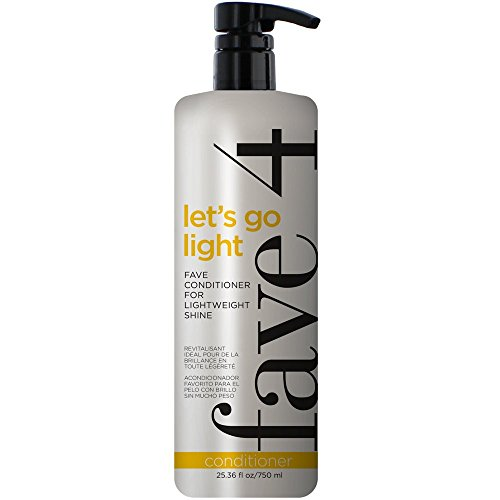 - fave4 Mini Let's Go Light Fave Conditioner Fanatic Size for Lightweight Shine- Sulfate Free | Paraben Free| Gluten Free| No Added Sodium Chloride | Cruelty Free| Safe for Color Treated Hair, 25.36 oz