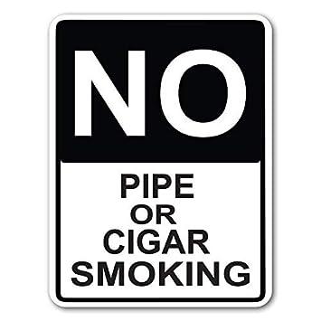 Amazon.com: Señal de calle sin pipa o cigarrillo fumando 7.9 ...