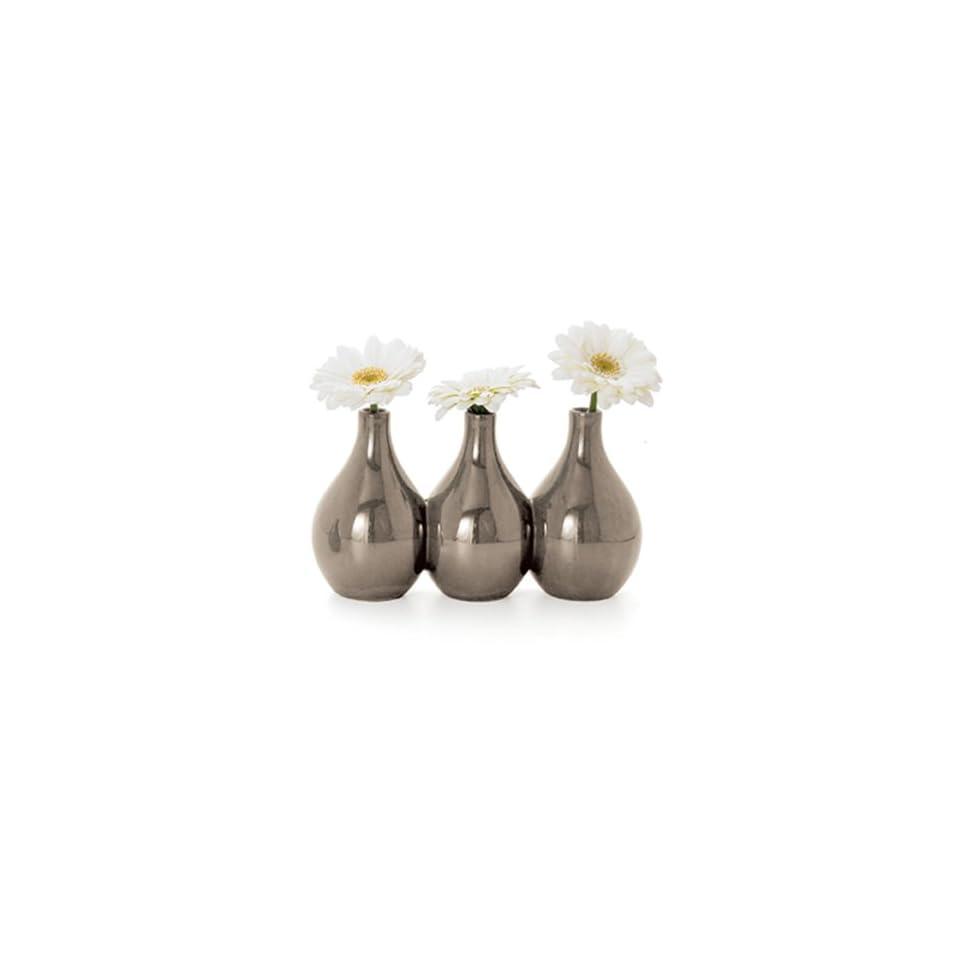 Torre & Tagus Nari 3 Bud Vase, Gray