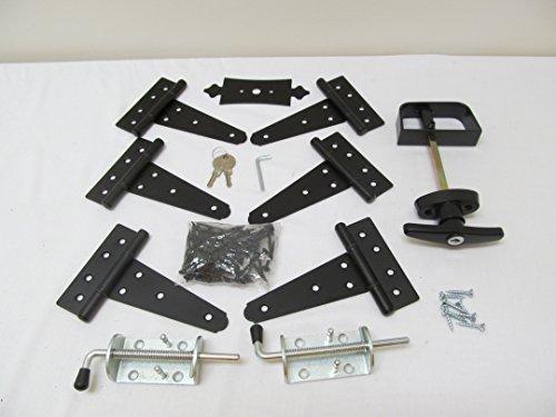Shed Door Hardware Kit #1, T Hinges 5