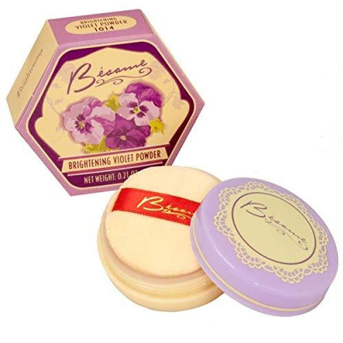 - Besame Cosmetics Brightening Powder, Violet, 0.21 Ounce