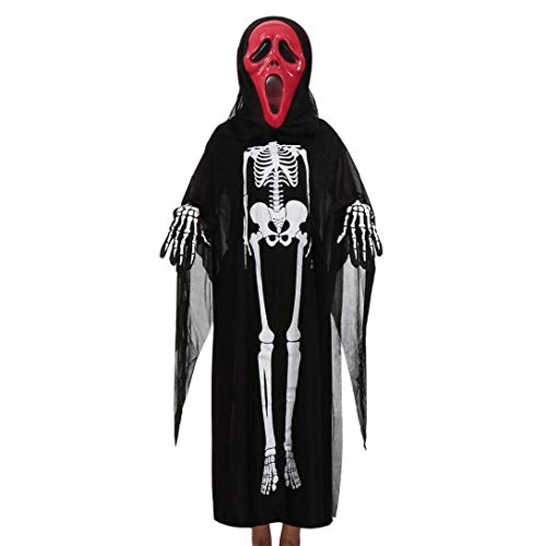Rucan Papa Mama Kids Baby Halloween Cosplay Costume Cloak+Mask+Gloves Family Outfits Set