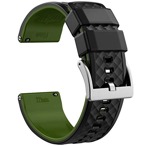 20mm Silicone Watch Bands Compatible with Verizon GizmoWatch Quick Release Rubber Watch Bands for Men