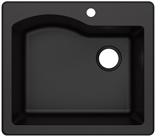 - Kraus KGD-441BLACK Quarza Granite Kitchen Sink, 25-inch, Black