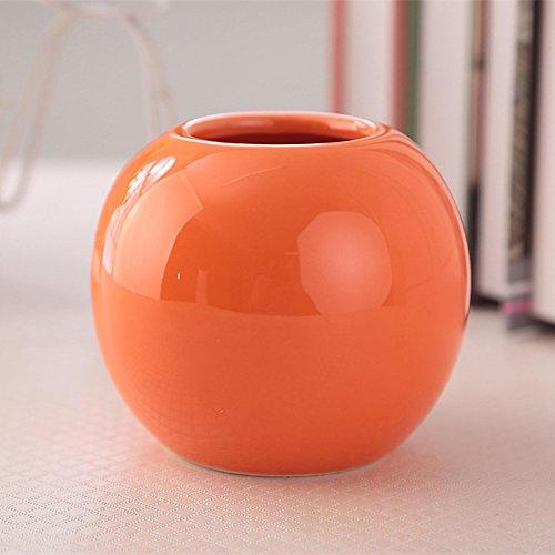 Cute Plants Planter Pots Decorative Bud Vase Succulent Vases Garden Pots Various 7 Colors (One Orange)
