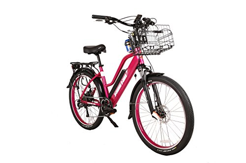 X-Treme Scooters Catalina Beach Cruiser Electric Bicycle 48 Volt Lithium - Long Range Electric Bike (Pink)