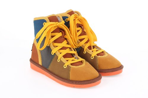 snow boots short color Oranger leisure PU Unisex Blue cotton Colorfulworldstore artificial matching boots xqFzYPvgw