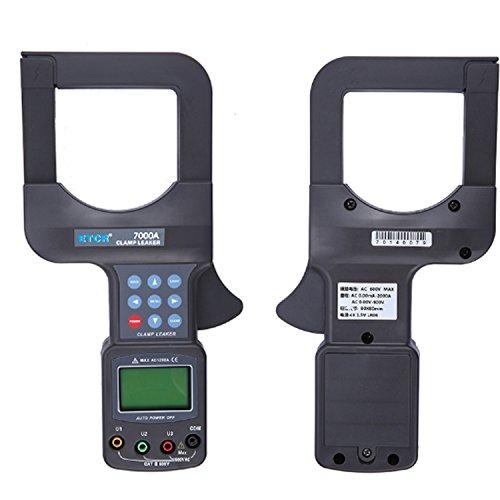 Digital meter- Large Caliber Leakage Clamp Meter Voltage Detector Current Clamp ETCR7000A, Amp Ohm Volt Meter: Amazon.co.uk: DIY & Tools