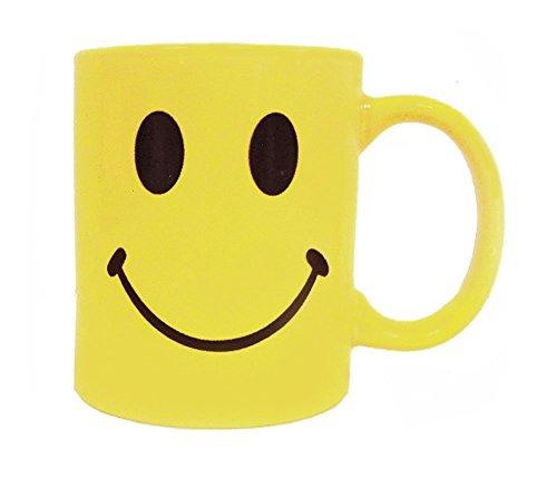 Yellow Retro Smiley Face Coffee Cup Mug-Ceramic-8 Oz -